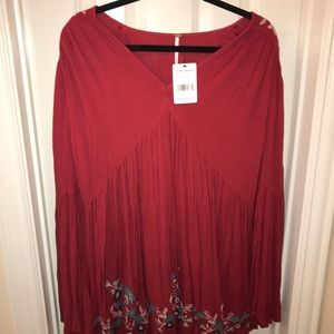 Free people flowy Red dress